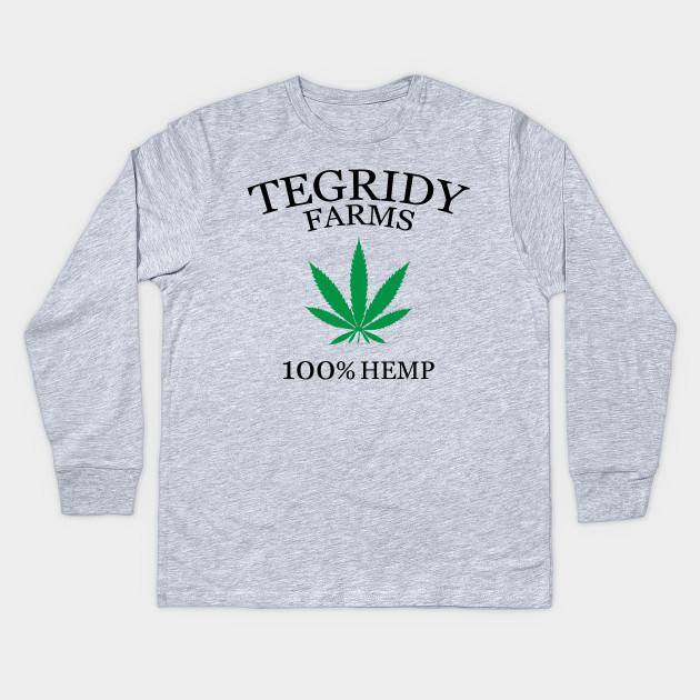 805e6036 Tegridy Farm 100% Hemp - Tegridy Farms - Kids Long Sleeve T-Shirt ...