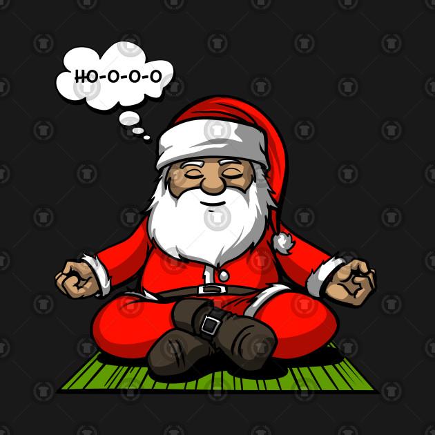 Funny Christmas Pictures.Santa Meditation Christmas Funny Zen Yoga Spiritual