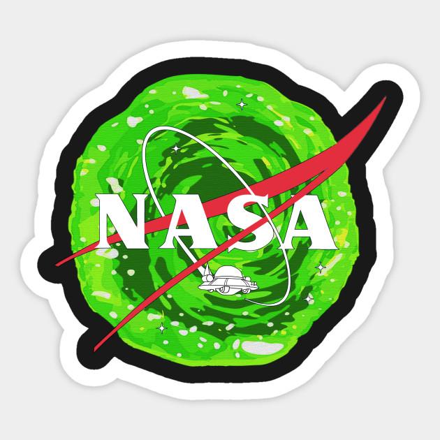 Nasa Ufo Rick And Morty Rick And Morty Sticker Teepublic
