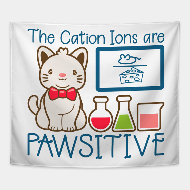 Cat Chemistry Pawsitive Lover Funny Cute Unique Best Graphic Image Humor Retro Pun Quotes Sayings Memes Slogan Statemtent Gift Idea Mug Sticker Hoodie