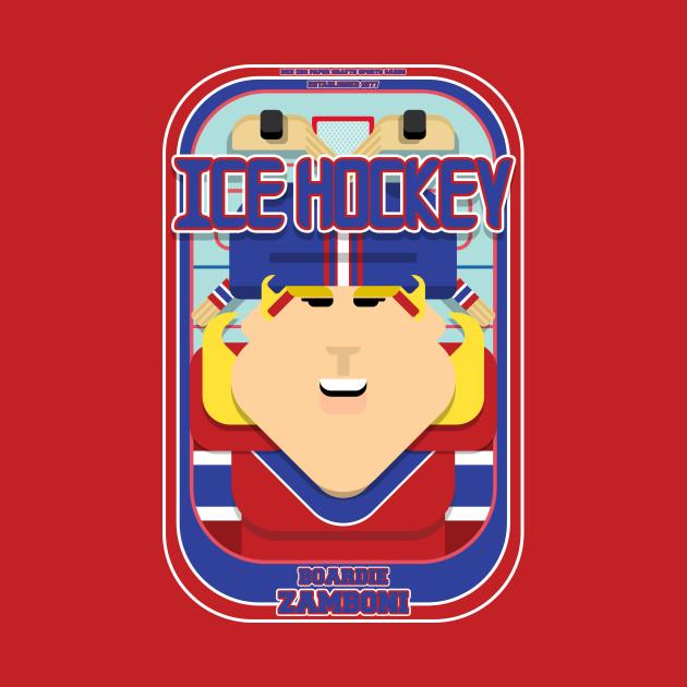 Ice Hockey Red and Blue - Faceov Puckslapper - Hazel version
