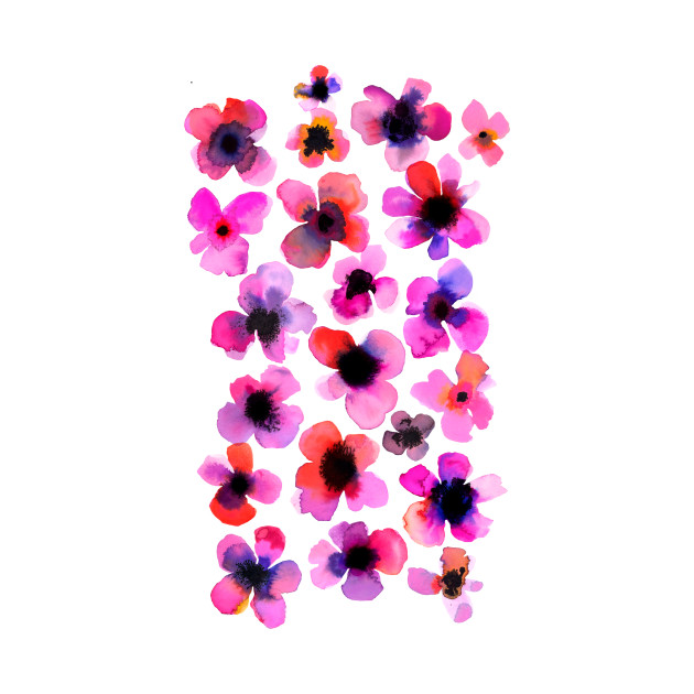 Watercolor Pink Flowers