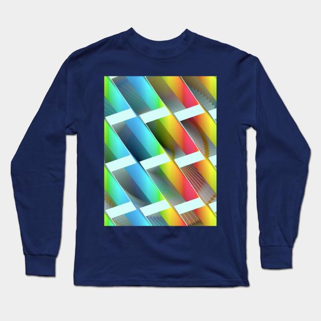 Geometric Futures 3 Repeat Pattern Modular Synth Art Interior Design Long Sleeve T Shirt Teepublic