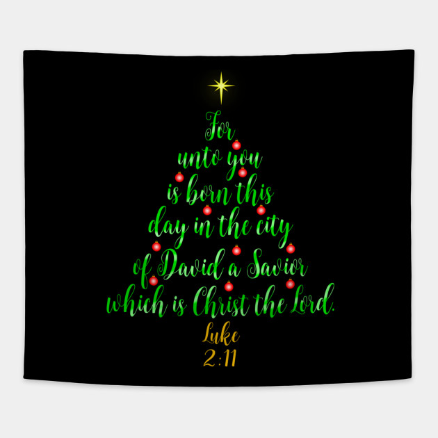 Christian Christmas.Christian Christmas Shirts Unto You Is Born A Savior Tree
