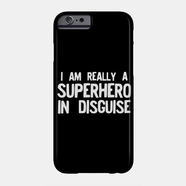 Funny Superhero Costume Pajama Halloween design Gift Idea Phone Case
