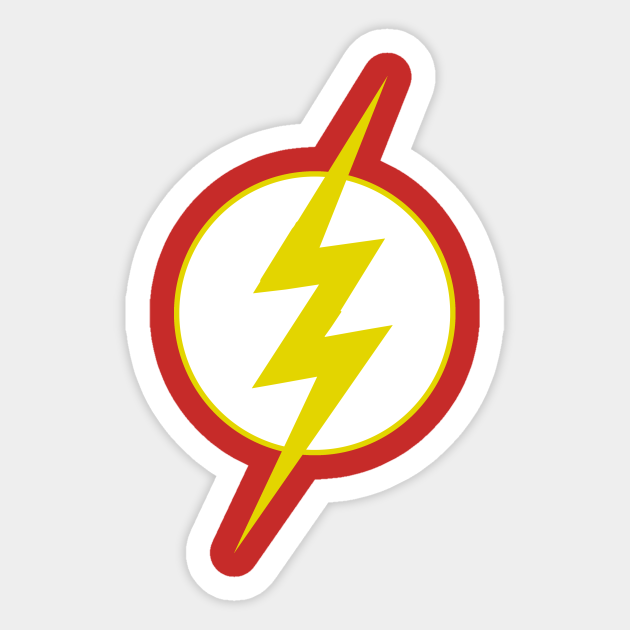 The Flash Symbol Lightning Bolt Sticker Teepublic Au Often called the fastest man alive, the mantle of the flash has been worn by six individuals, all with the power of extraordinary speed stemming from a mysterious realm called the speed force. teepublic