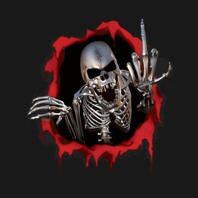 Skeleton Middle Finger