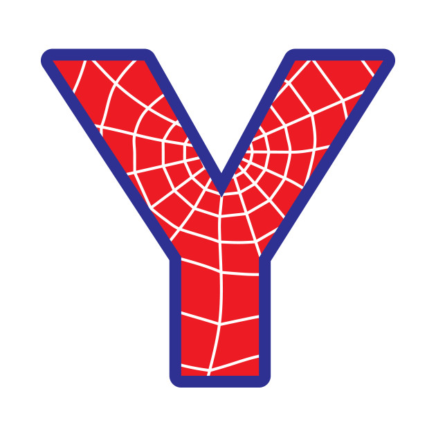 Spiderman Letter Y Spiderman Letter T Shirt Teepublic