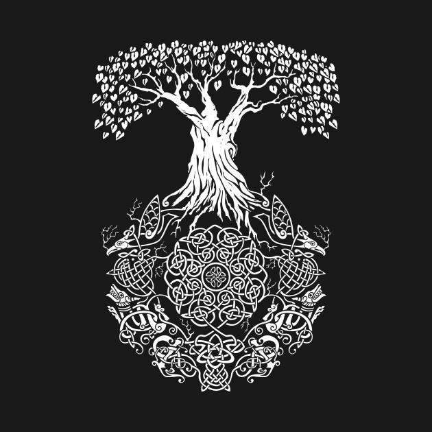 celtic tree of life yggdrasil t shirt teepublic