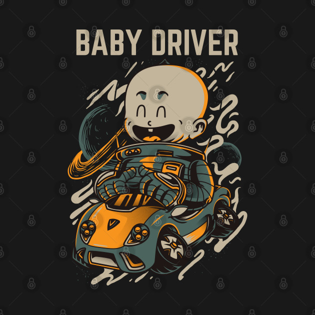 Funny Baby Driver illustrations