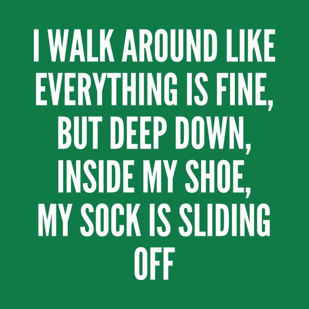 Quotes Deep Life: Deep - Funny Quotes Parody - Deep - T-Shirt