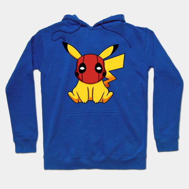 4677cf55 Pikapool Pikachu Deadpool Mashup Pokemon Detective Pikachu Hoodie
