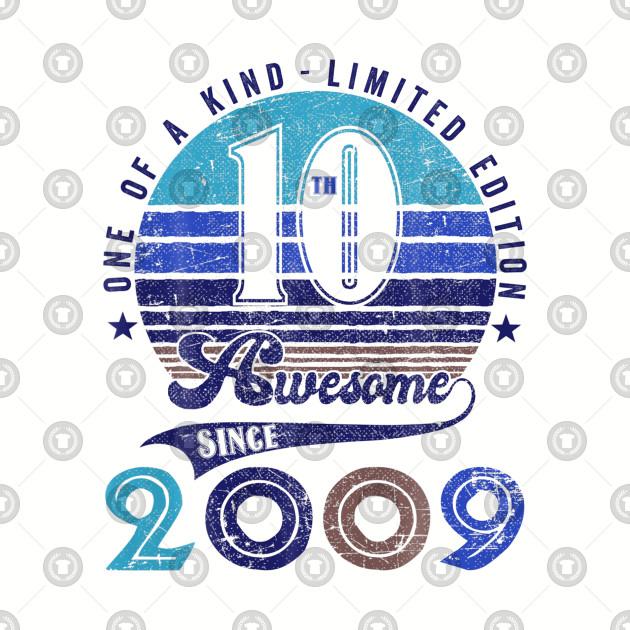 10th Birthday Vintage Retro
