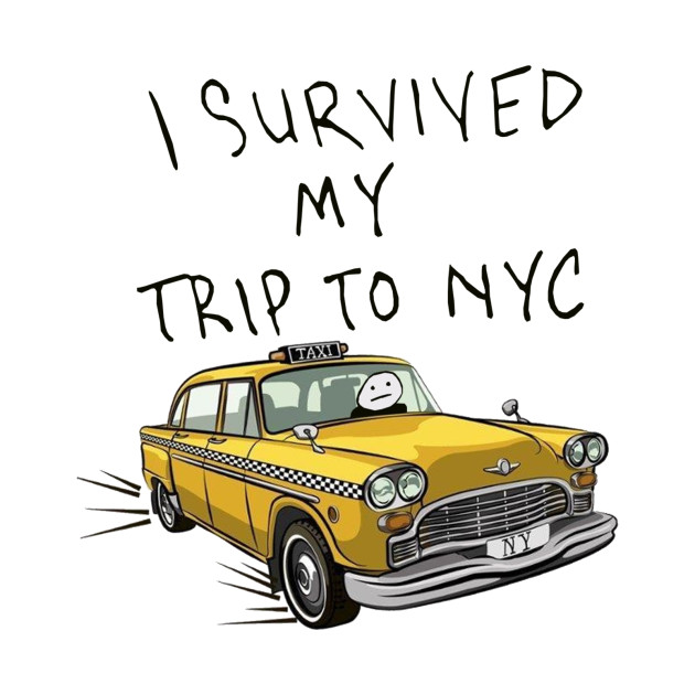 i survived my trip to nyc - Spider Man - T-Shirt  ebcc76a5163