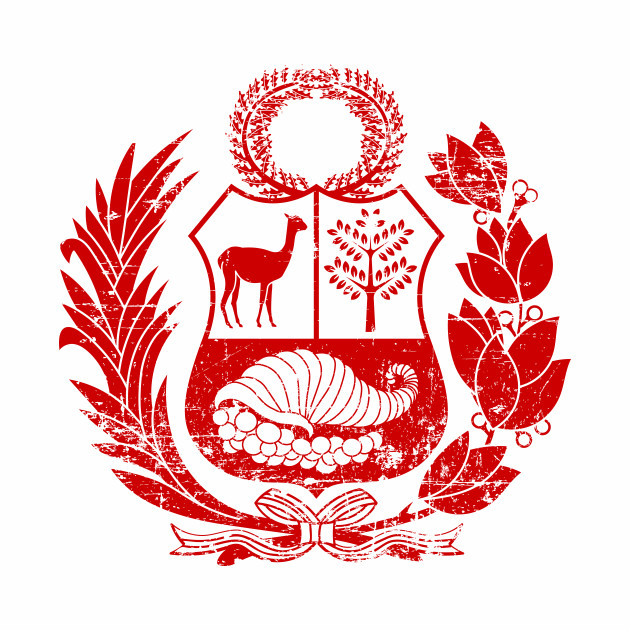 Peru - Coat of arms - Escudo Peruano - Red