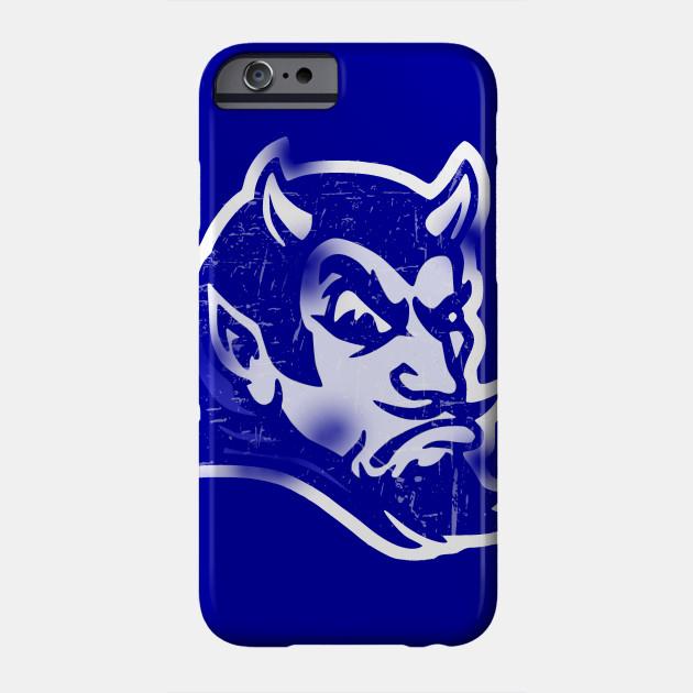 promo code 6932a 103ec Vintage Style Blue Devil Mascot (Distressed)