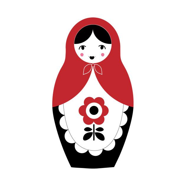 Matryoshka Nesting Doll, Red