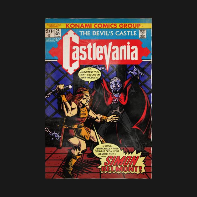 Castlevania Vintage Comic Cover