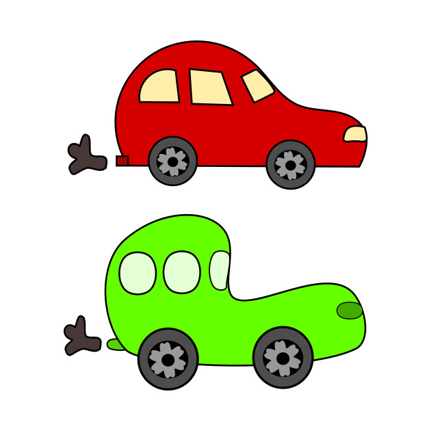 Limited Edition Exclusive Cartoon Green And Red Cars Cartoon