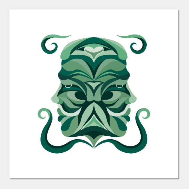 Gemini Zodiac Sign - Green