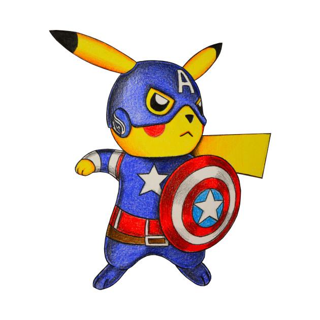29d91b5f Captain Pikachu - Pokemon Mashup - T-Shirt | TeePublic