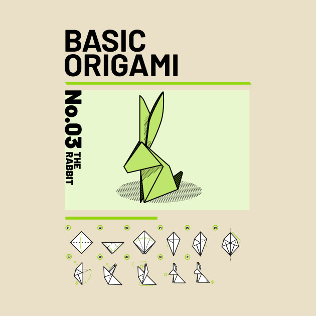 Basic Origami Instruction Rabbit