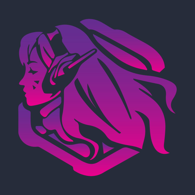 Dva Purple Artwork Overwatch