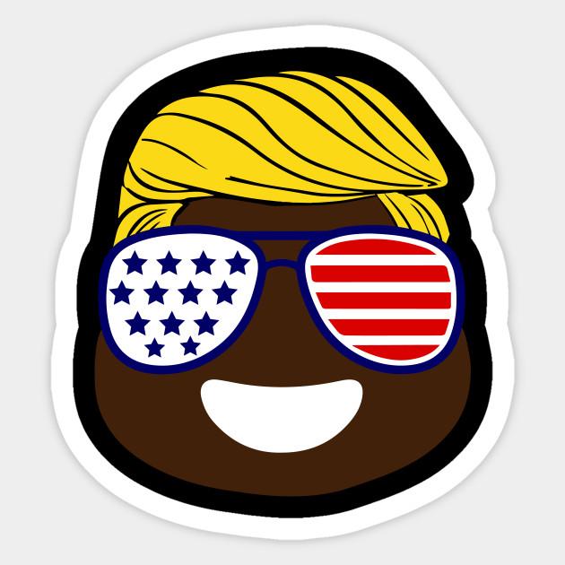 Happy Independence Day USA Flag 4th Of July Funny Poop Emoji Patriotic
