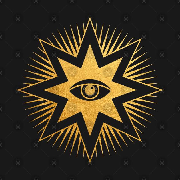 All Seeing Eye Gold Freemasonry Symbol