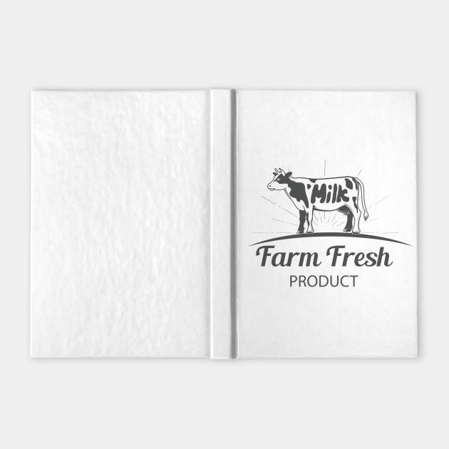 Farm Cow With Milk Logo
