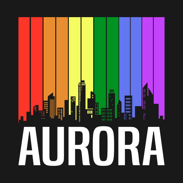 The Love For My City Aurora Great Gift For Everyone Who Likes This Place.