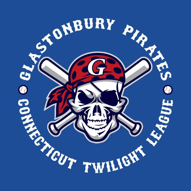 Glastonbury Pirates Ctl Baseball Player Shirt White Text Ct