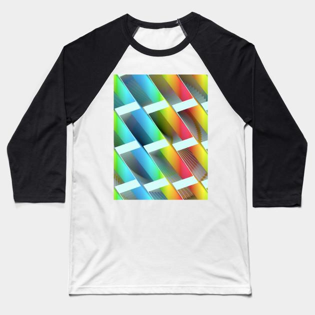 Geometric Futures 3 Repeat Pattern Modular Synth Art Interior Design Baseball T Shirt Teepublic