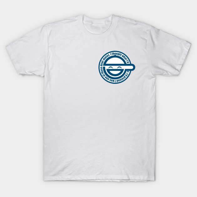 Laughing Man symbol from Ghost In The Shell Anime series T-Shirt-TOZ