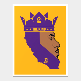 746af0bccda9 Lebron James The King Lakers Posters and Art