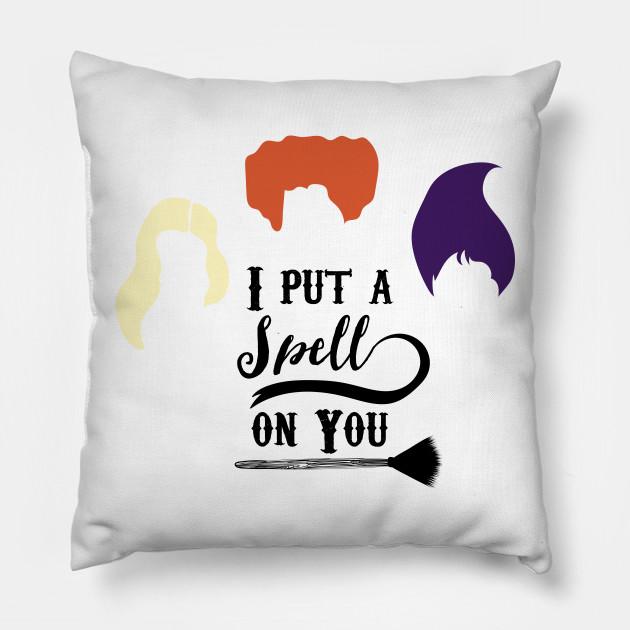 i put a spell on you hocus pocus pillow teepublic