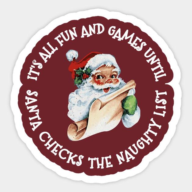 Santa Checks His Naughty List Funny