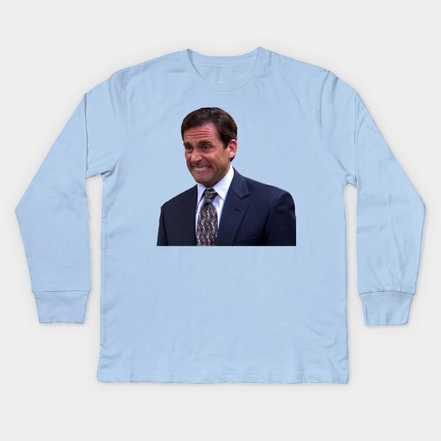 d01179cb Crying Michael Scott - Michael Scott - Kids Long Sleeve T-Shirt ...