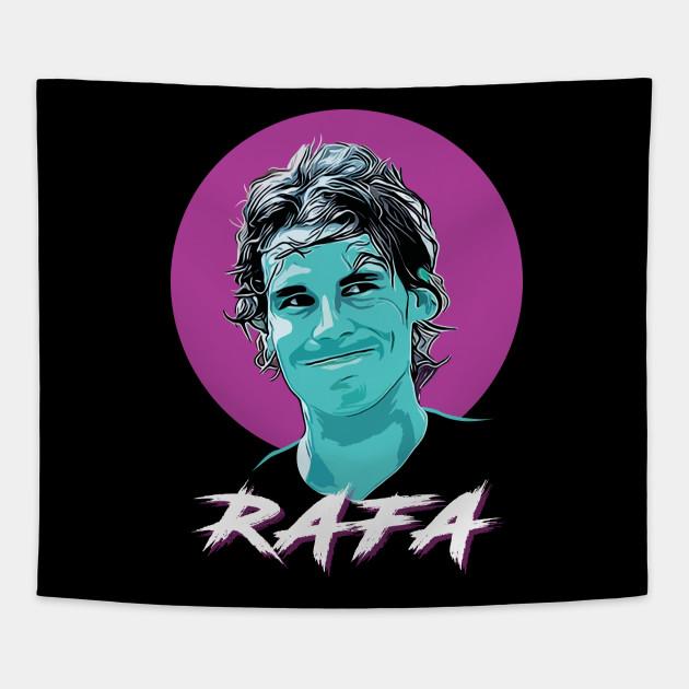 7444b3ba Vamos Rafa - Rafael Nadal - Tapestry | TeePublic