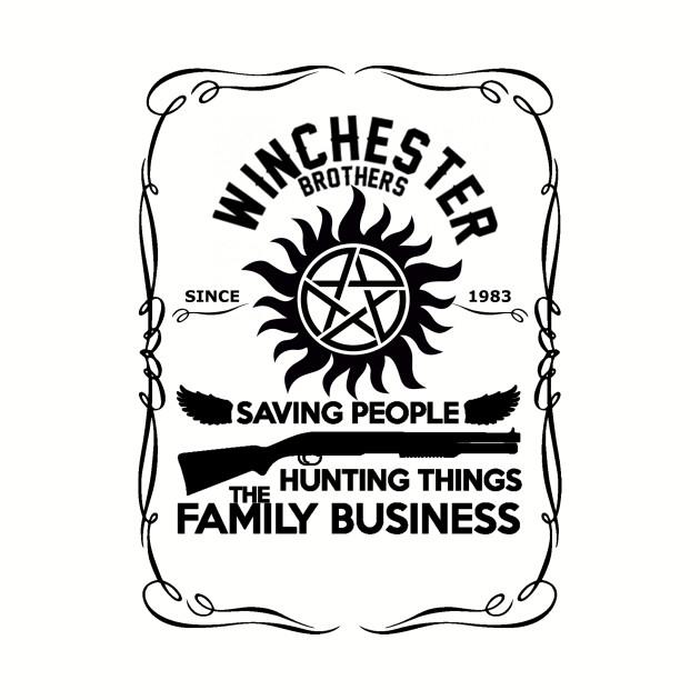Supernatural Winchester Family Business Hunting Things Baseball