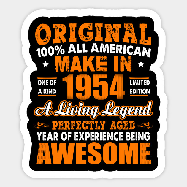 Made In 1954 64th Birthday Years Original Vintage Sticker