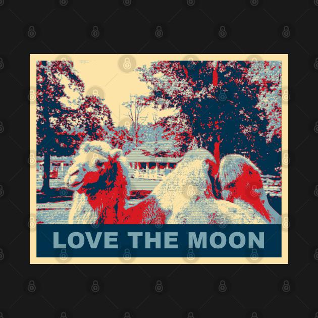 Love the moon, a camel design