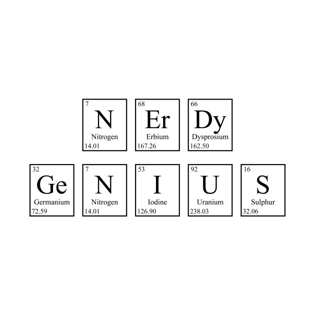 Nerdy Genius - Periodic Table