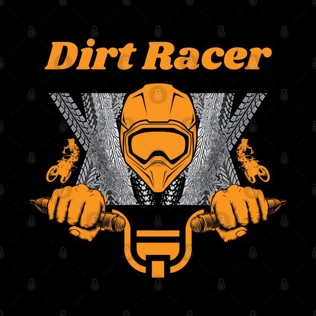 Dirt Racer Biker Sports Graphic Design