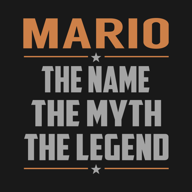 MARIO The Name The Myth The Legend