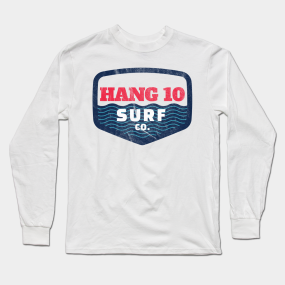 b13a97f8 Hang 10 Surf Co Retro Distressed Surfer Shirt from the 60s Long Sleeve T- Shirt