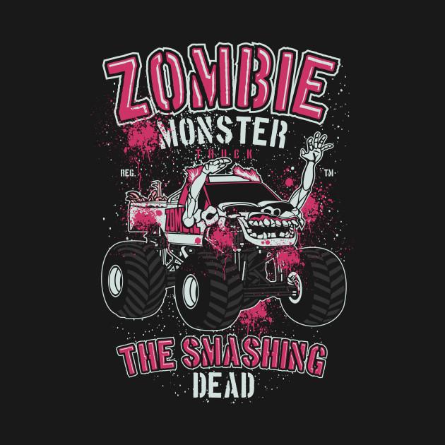 Zombie Monster Truck Zombie Hoodie Teepublic