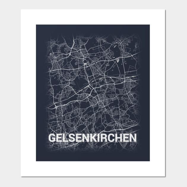 Map Of Germany Gelsenkirchen.Gelsenkirchen Germany Deutschland City Map