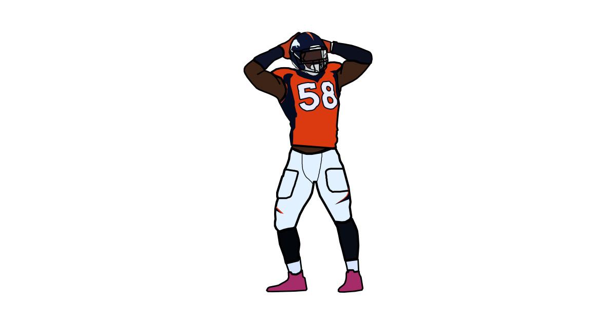 46820fe5 Von Miller Sack Celebration Denver Broncos NFL by xavierjfong