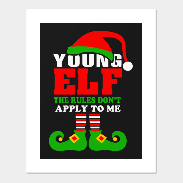 Funny Youngest ELF Family Christmas Shirt Pajama Party Posters and Art  Prints. New! 2abc9e06b